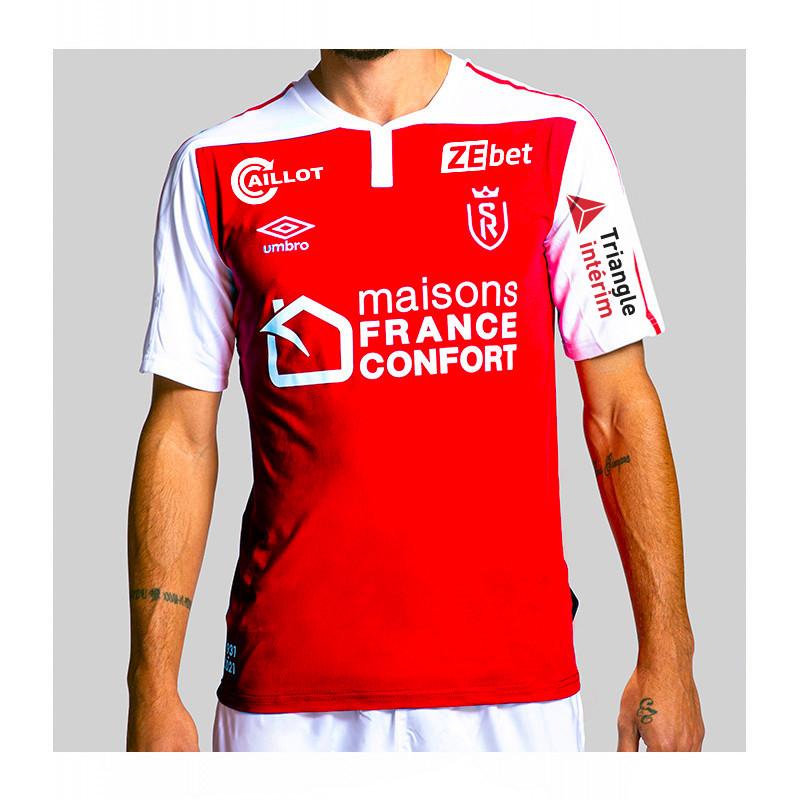 Sélection de maillots du Stade de Reims en promotion - Ex : Maillot Domicile Authentic (L ou XL) - stade-de-reims.com