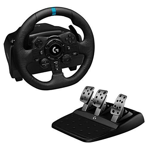 Volant de Course et Pédales Logitech G923 TrueForce pour PS5, PS4 et PC