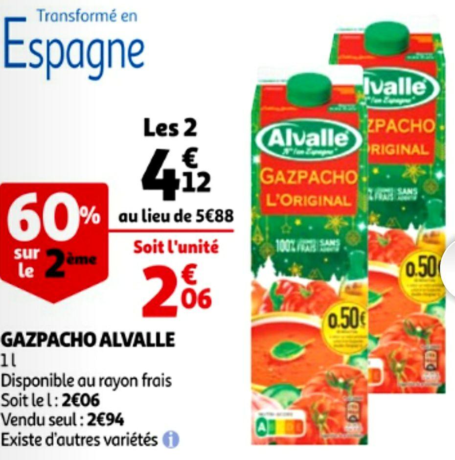 Lot de 2 Briques Gazpacho Alvalle - 2 x 1L