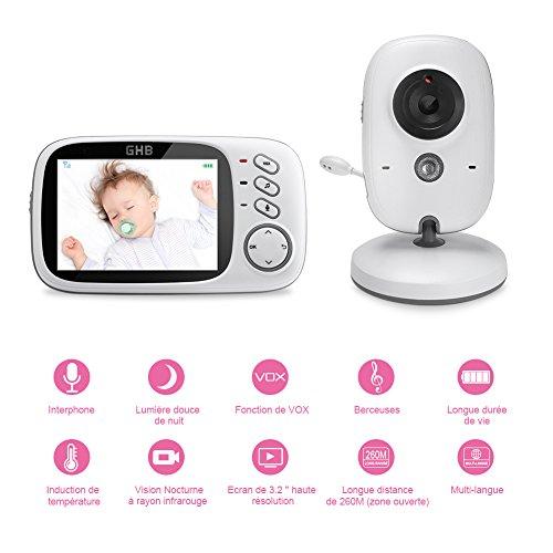 """Babyphone Vidéo 3.2"""" LCD Couleur GHB (Vendeur Tiers)"""