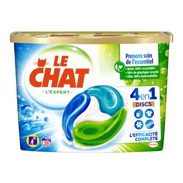 """Boite de 38 Lessives Ecodoses """" Le Chat Disc 4-en-1 """" - Variétés au Choix (via 9,34€ sur Carte Fidélité + BDR)"""