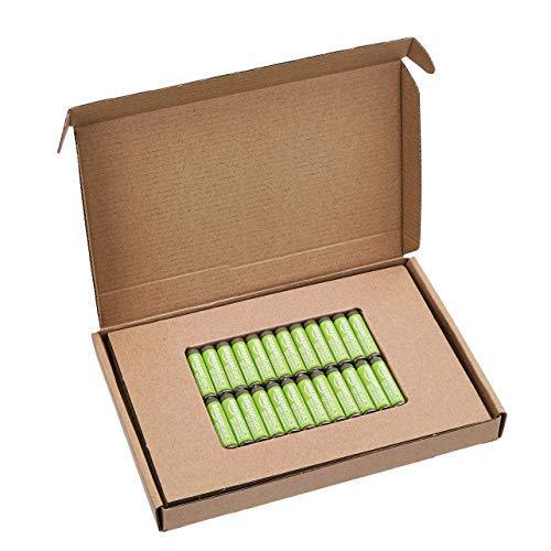 Lot de 24 Piles rechargeables Amazon Basics AAA haute capacité 850 mAh - Pré-chargées