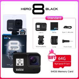 Caméra sportive GoPro Hero 8 Black + Carte mémoire 64 Go