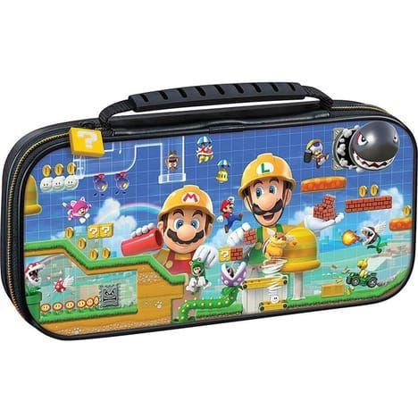 Sélection de pochettes officielles pour Nintendo Switch. Ex: Mario Maker + Game cases