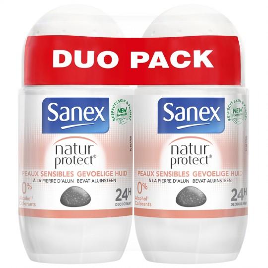 Lot de 2 déodorants Sanex Natur Protect - 2 x 50 ml, plusieurs variétés (via 3,90€ sur le compte fidélité)