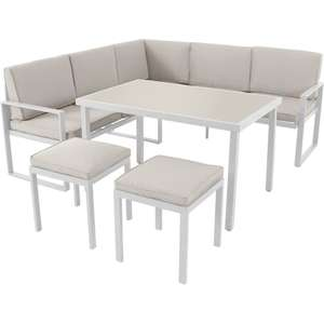 Salon bas de jardin Gardenstar Lounge - 6 personnes, blanc