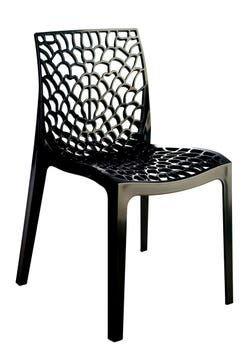 Chaise de jardin Gruvyer - en polypropylène, noir