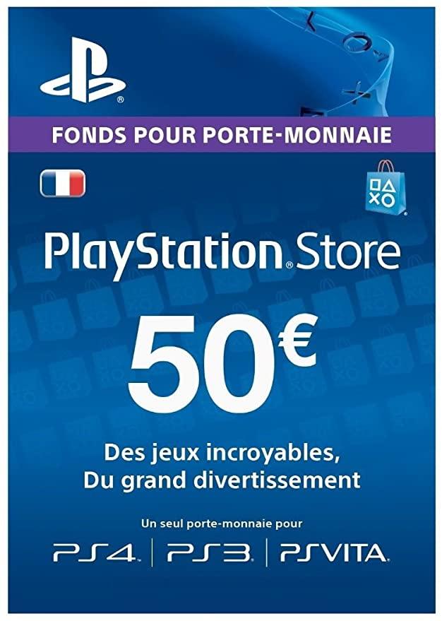 Carte PlayStation Network de 50€ pour 39.8€ (dématérialisée)
