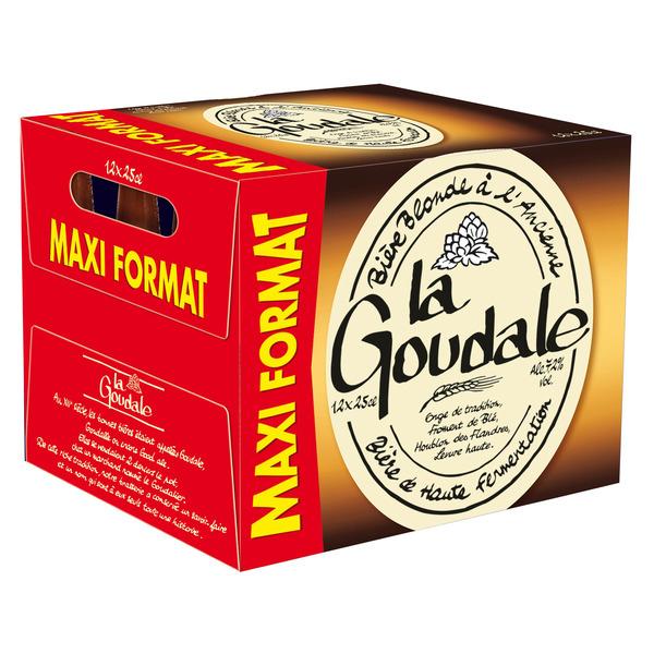 Pack de 12 bières blondes ou ambrées La Goudale - Maxi format (12 x 25 cl)