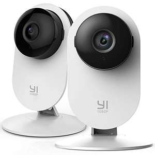 Lot de 2 Caméras de surveillance intérieures Yi Home - Full HD, WiFi, Détection de Mouvement, Vision Nocturne (Vendeur tiers)