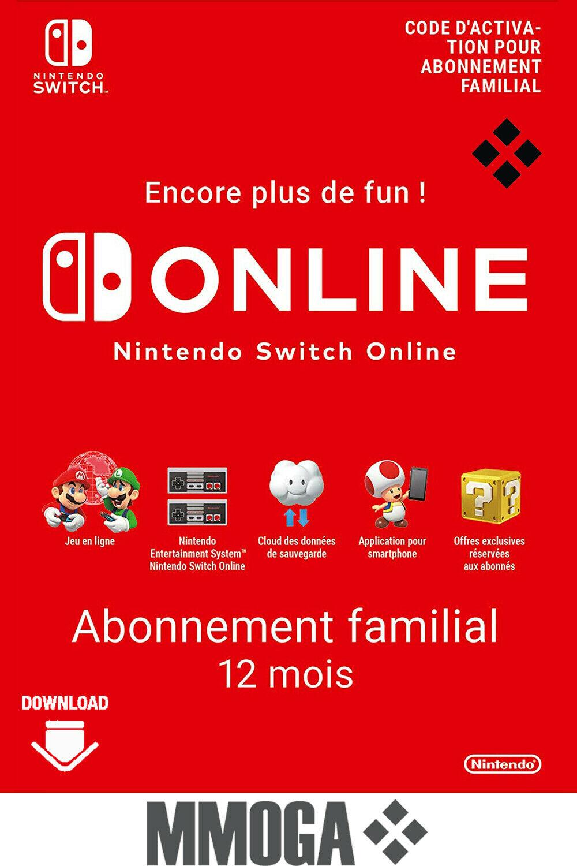 Abonnement d'un an au Nintendo Switch Online Familial (dématérialisé)