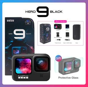 Caméra sportive GoPro Hero 9 Black + 2 protections d'écran offertes - Bundle Standard (Via Coupon)