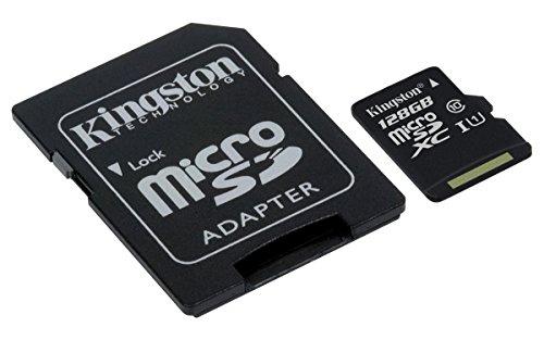 Carte micro SDXC Kingston Canvas Select UHS-I classe 10 (128 Go) + adaptateur SD (vendeur tiers)