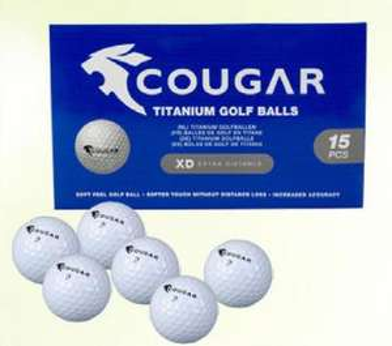 Boîte de 15 balles de golf Cougar - titane