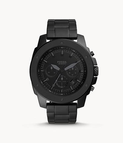 Montre analogique chronographe Fossil Mega Machine (FS5717) - argent ou noir