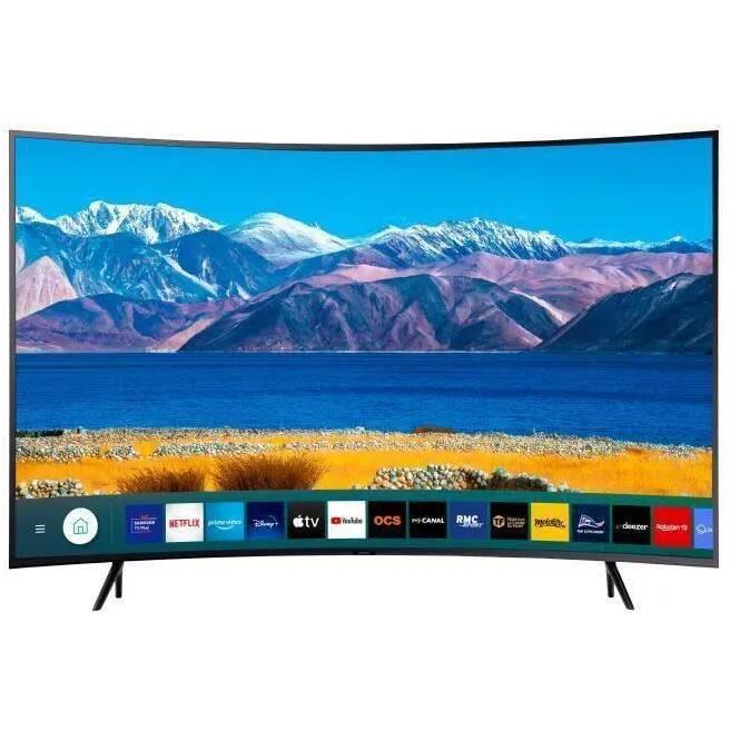 "TV 55"" Samsung UE55TU8372 - LED, 4K UHD, Incurvé, HDR 10+/HLG, Smart TV (+ 27.49€ à cagnotter pour les CDAV)"