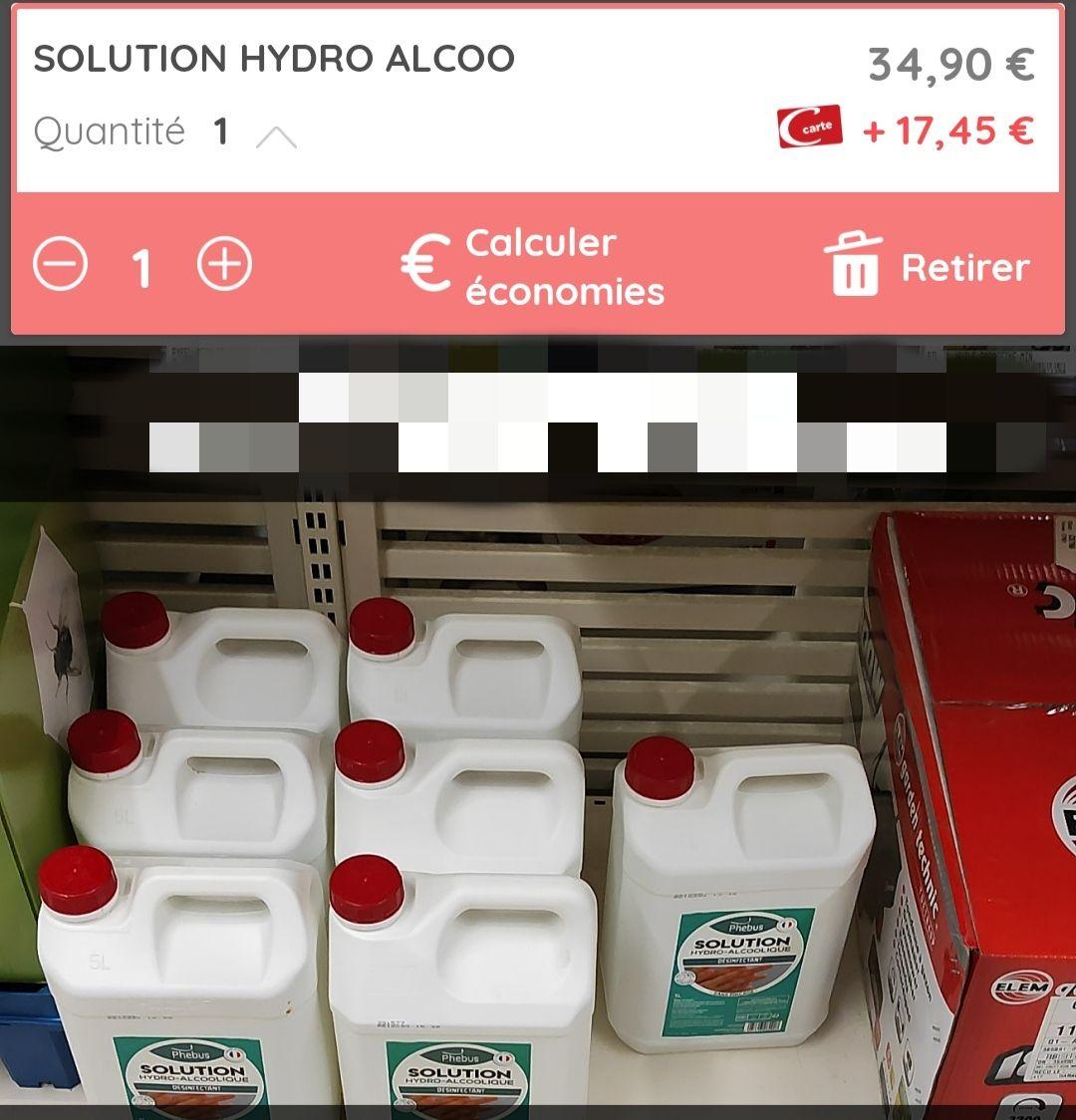 Solution Hydroalcoolique 5L (via 17€45 sur la carte fidélité) - Arcachon (33)