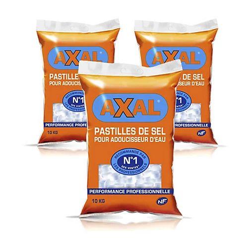 Lot de 3 sacs de Pastilles de sel régénérant pour adoucisseur (3x 10kg)