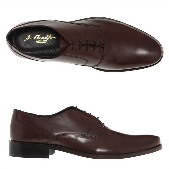 Chaussures Richelieu Bradford en cuir (du 40 au 46) + crème imperméabilisante Kuiral offerte