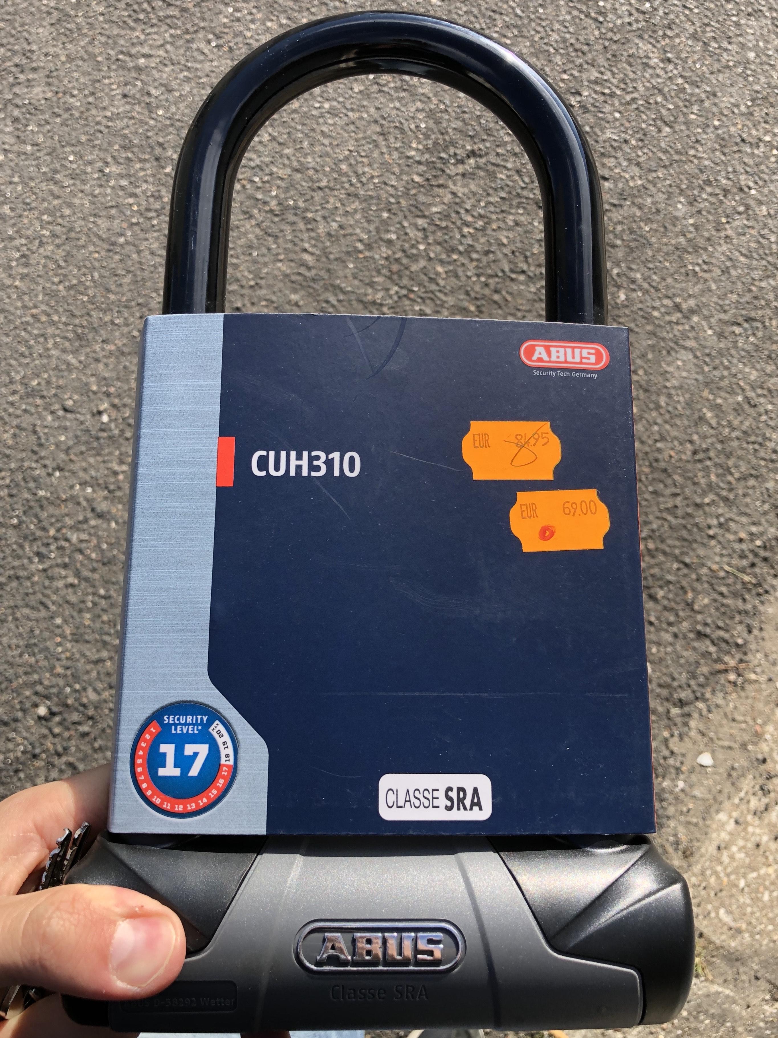 Antivol en U Abus CUH310 pour moto - Sasie Center Moto Pontault-Combault (77)