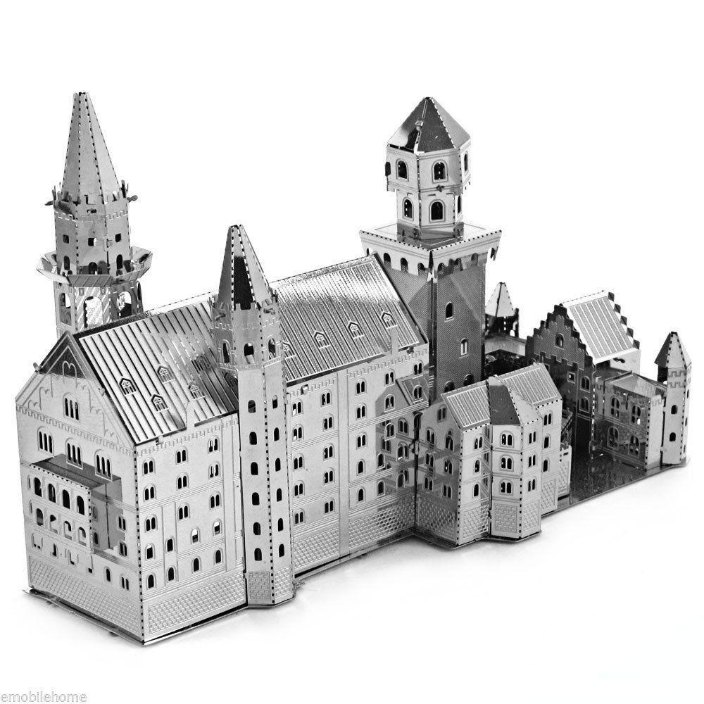 Sélection de nano puzzles 3D en métal - Ex : Swan Stone Castle
