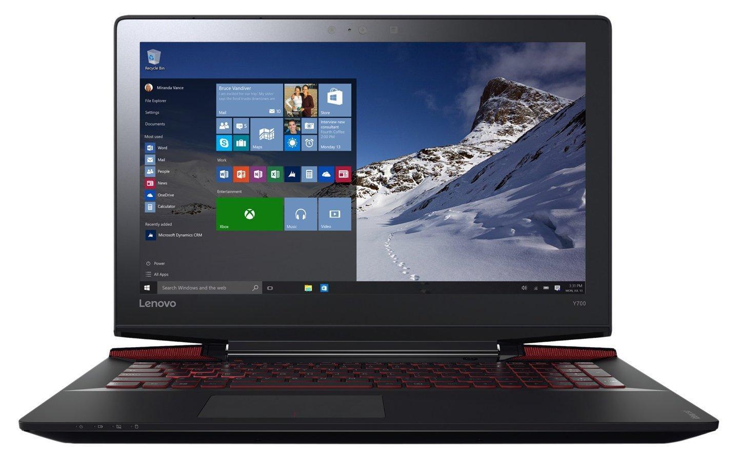 """PC Portable 15.6"""" Lenovo IdeaPad Y700-15ISK - Intel i5-6300HQ, 8 Go de Ram, 1 To + 128 Go SSD, Geforce GTX 960M"""