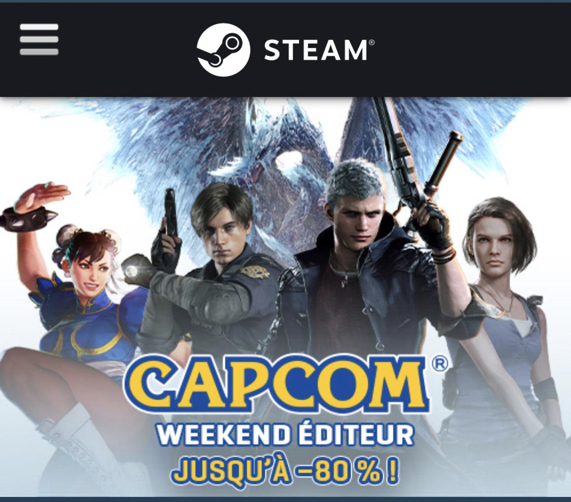 Sélection de Jeux PC Capcom en promotion (Dématérialisé)