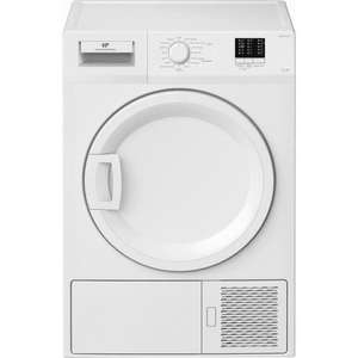 Sèche-linge Continental Edison CESL7PCW2 - 7kg, Pompe à chaleur, A+, Tambour galvanisé, Porte plastique, Indicateurs LED, 15 programmes