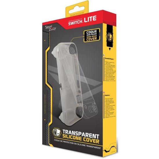 Housse de Protection en Silicone transparent SteelPlay pour Switch Lite