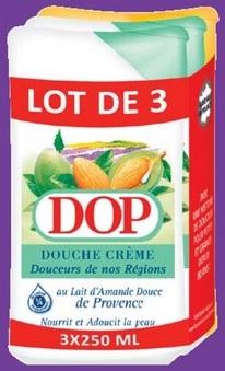 Lot de 3 gels douche Dop - Plusieurs variétés - 3 x 250 ml (Via 2,66€ sur Carte Fidélité )