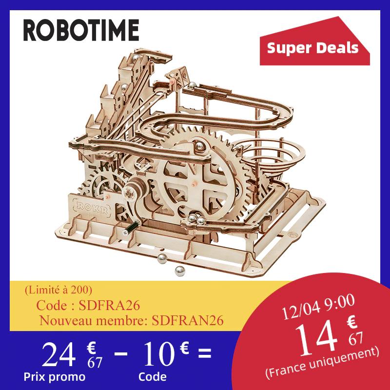 Kit à assembler en bois Robotime Roue à Eau (entrepôt BE)