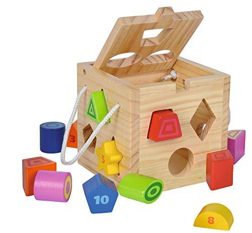 Jeu boîte à cubes en bois enfichables pour enfant Eichhorn (vendeur tiers)