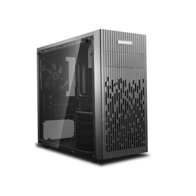 Boîtier PC Deepcool Matrexx 30 - Micro-ATX, vitre en verre trempé, noir