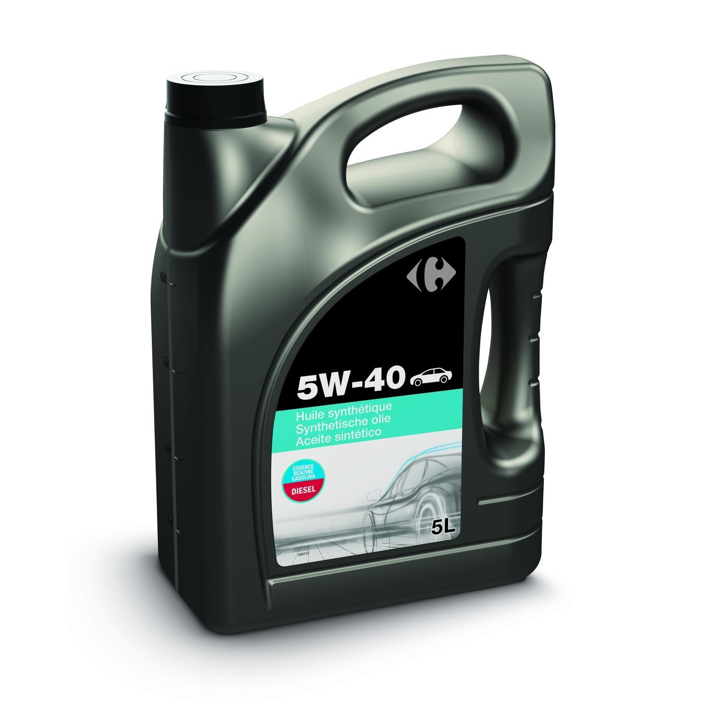Bidon d'huile moteur Carrefour 5W40 (5L)
