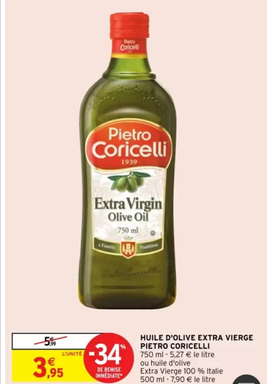 Huile d'olive extra vierge Pietro Coricelli (750 ml)