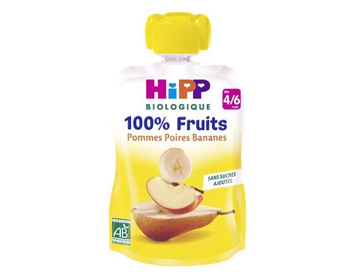 30% de remise sur les produits HIpp -  Ex : Gourde 100% Fruits - Dès 4 Mois 90g