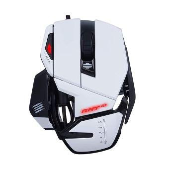 Souris optique Gaming filaire Mad Catz R.A.T. 4+, Blanc