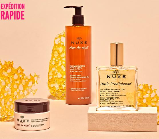 sélection de produits NUXE en promotions