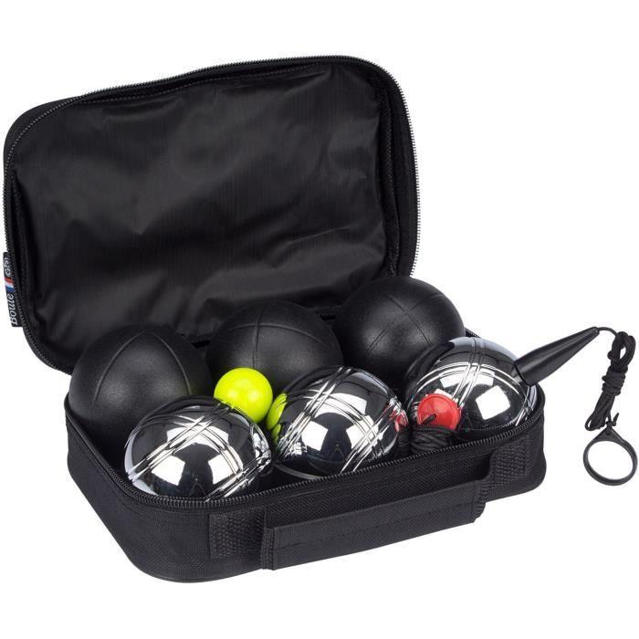 Set 6 boules de pétanque GetGo Deluxe - acier chromé et mat
