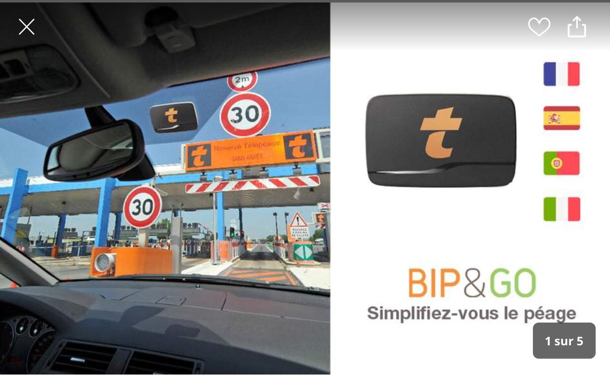Badge Telepeage Bip&Go