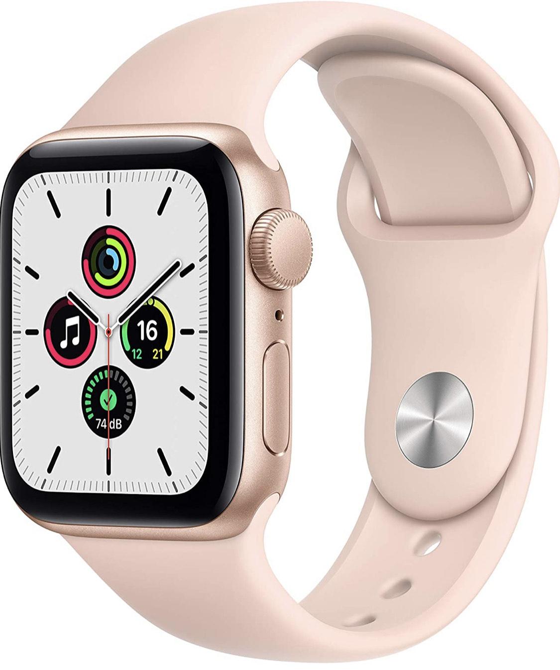 Montre connectée Apple Watch SE GPS - 40 mm, bracelet sport, rose sable