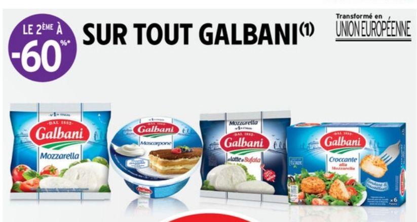 1 produit Galbani acheté = le 2ème à -60%