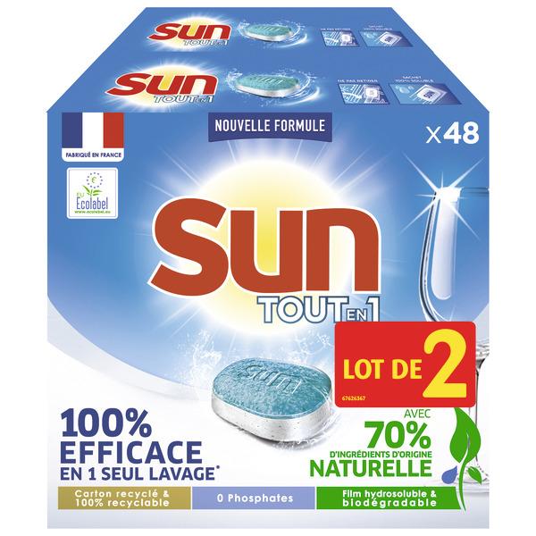 Sélection de produits en promotion - Ex: 2 Paquets de 48 Tablettes de lave-vaisselle Sun