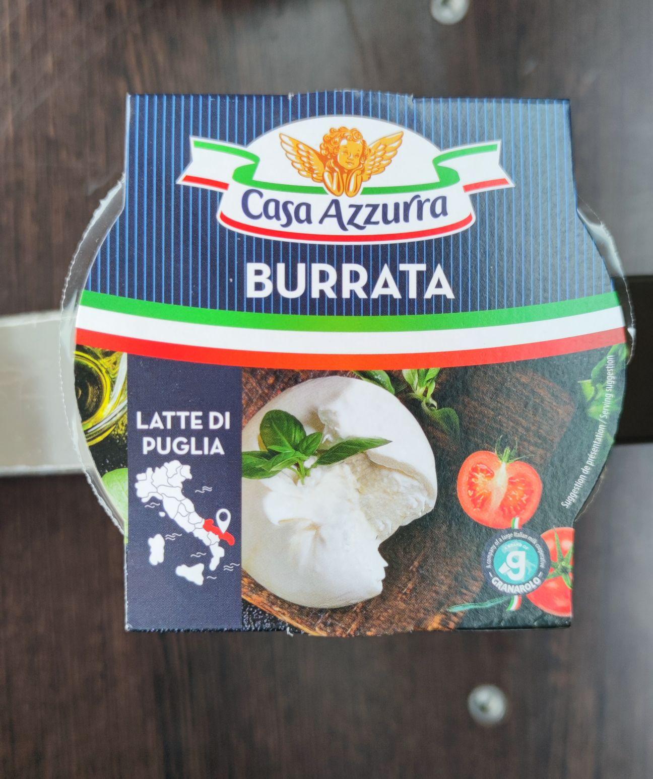 2 Burrata au lait de vache Casa Azzura (2x 125g) - Auchan Vélizy (78)