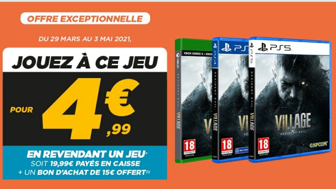 [Précommande] Resident Evil Village sur PS4 / PS5, Xbox One à partir de 19.99€ (+15€ en BA) pour la reprise d'un jeu parmi une sélection