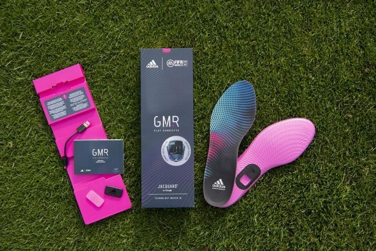 Pack de semelles connectées adidas GMR - Puces Google Jacquard Tag / Symmetry, Mesures distance / frappes / sprints