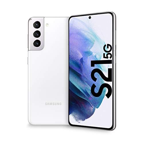 """Smartphone 6.2"""" Samsung Galaxy S21 - 5G, FHD+ 120Hz, HDR10+, Exynos 2100, RAM 8 Go, 256 Go, Double SIM, Blanc (Version Italienne)"""