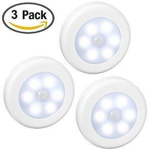 Pack de 3 veilleuses Amir - avec détecteur de mouvement / nuit