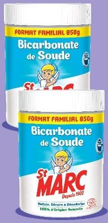 2 Pots de bicarbonate de soude de nettoyage en poudre St Marc - 2x 850 g