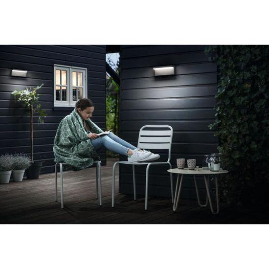 Applique LED Extérieure Philips Bustan - 4000K 2x4,5W - Anthracite